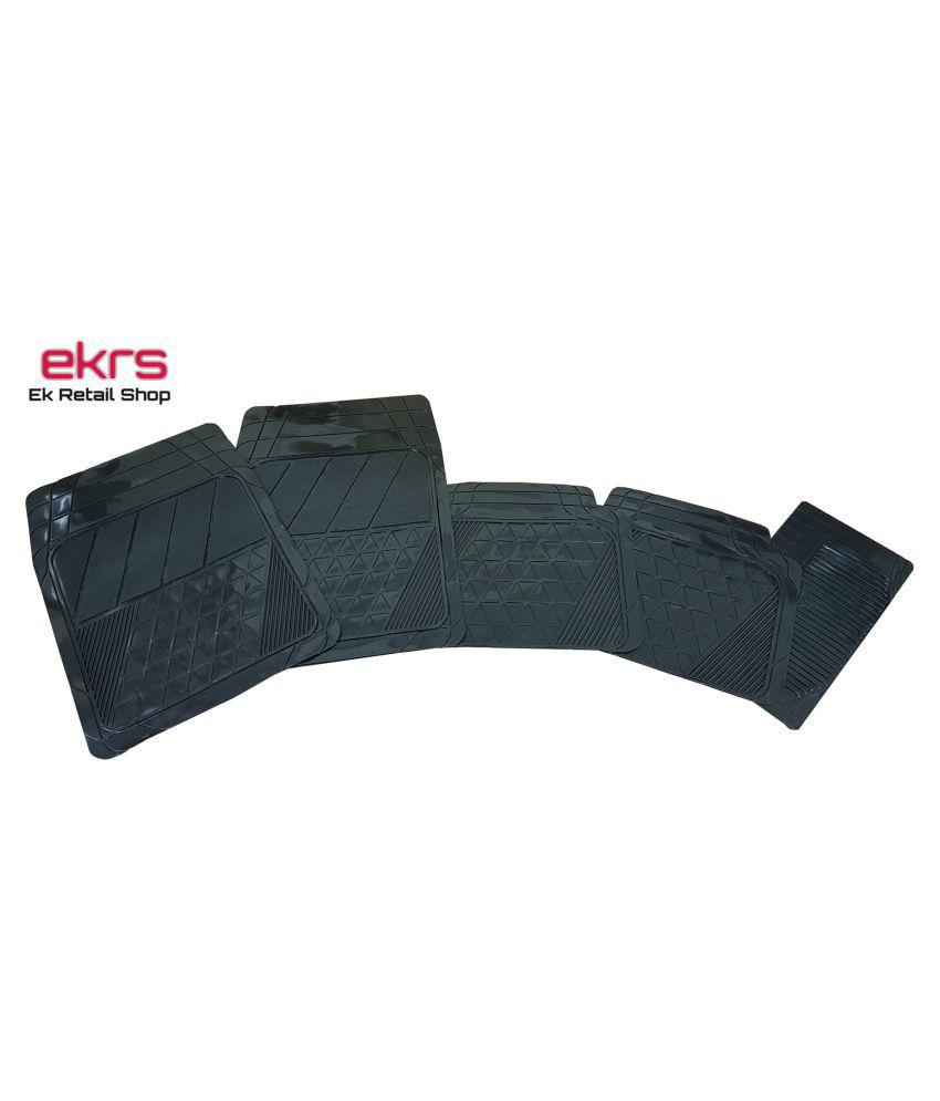 Ek Retail Shop Car Floor Mats (Black) Set of 4 for Hyundai Santro Xing GL Plus LPG