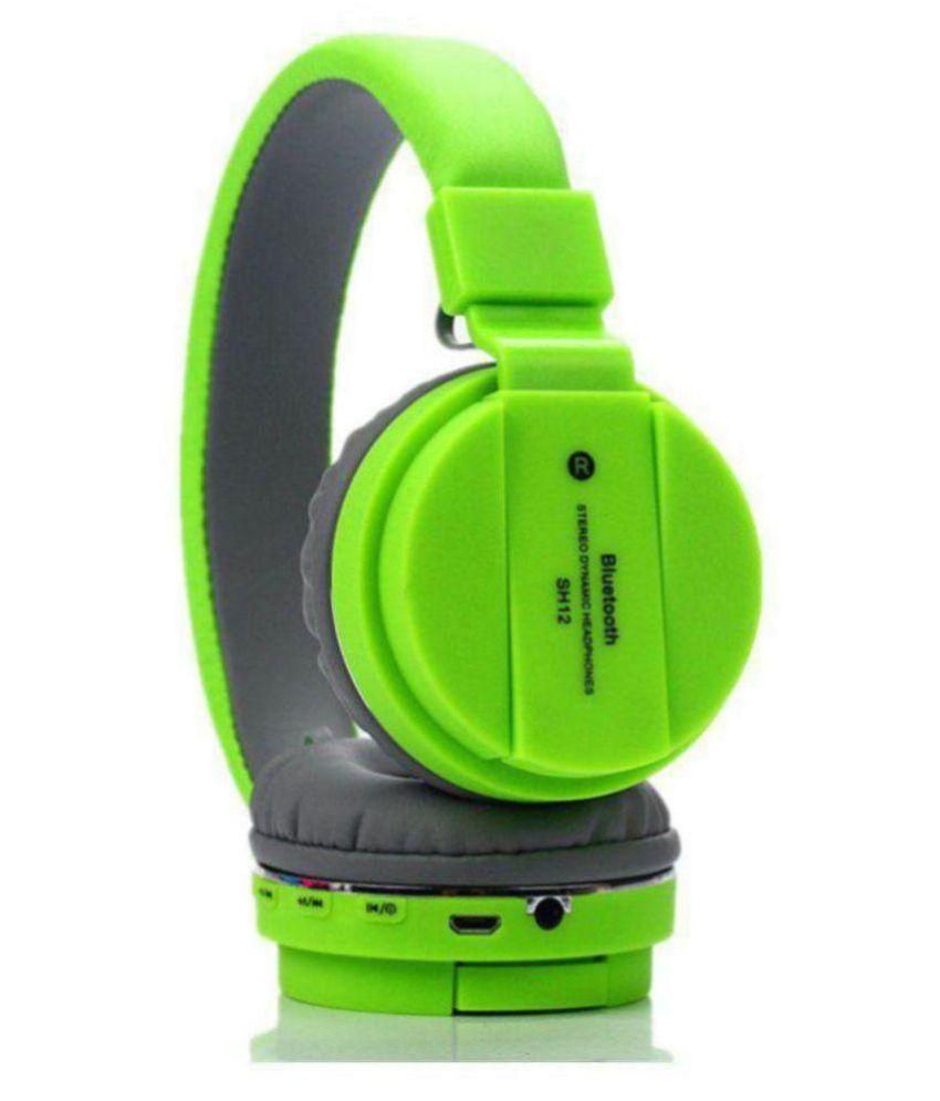 Techfire SH12 Bluetooth Headset with Mic On Ear Wireless Headphones With Mic