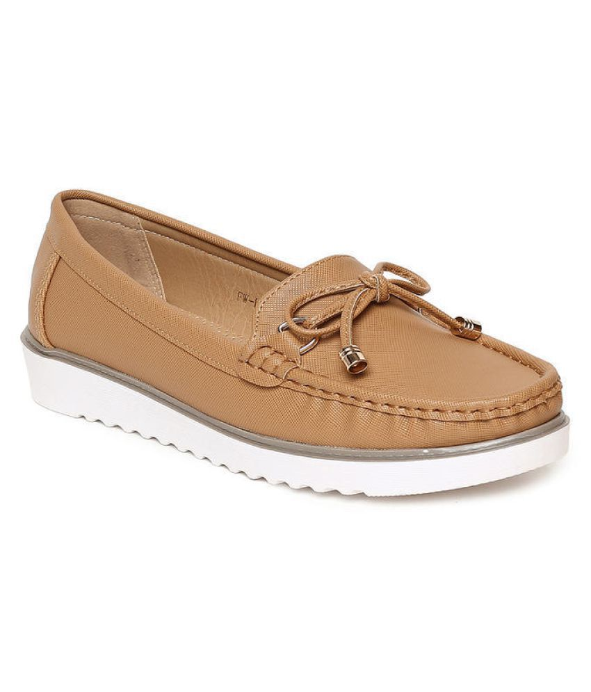 Addons Tan Casual Shoes