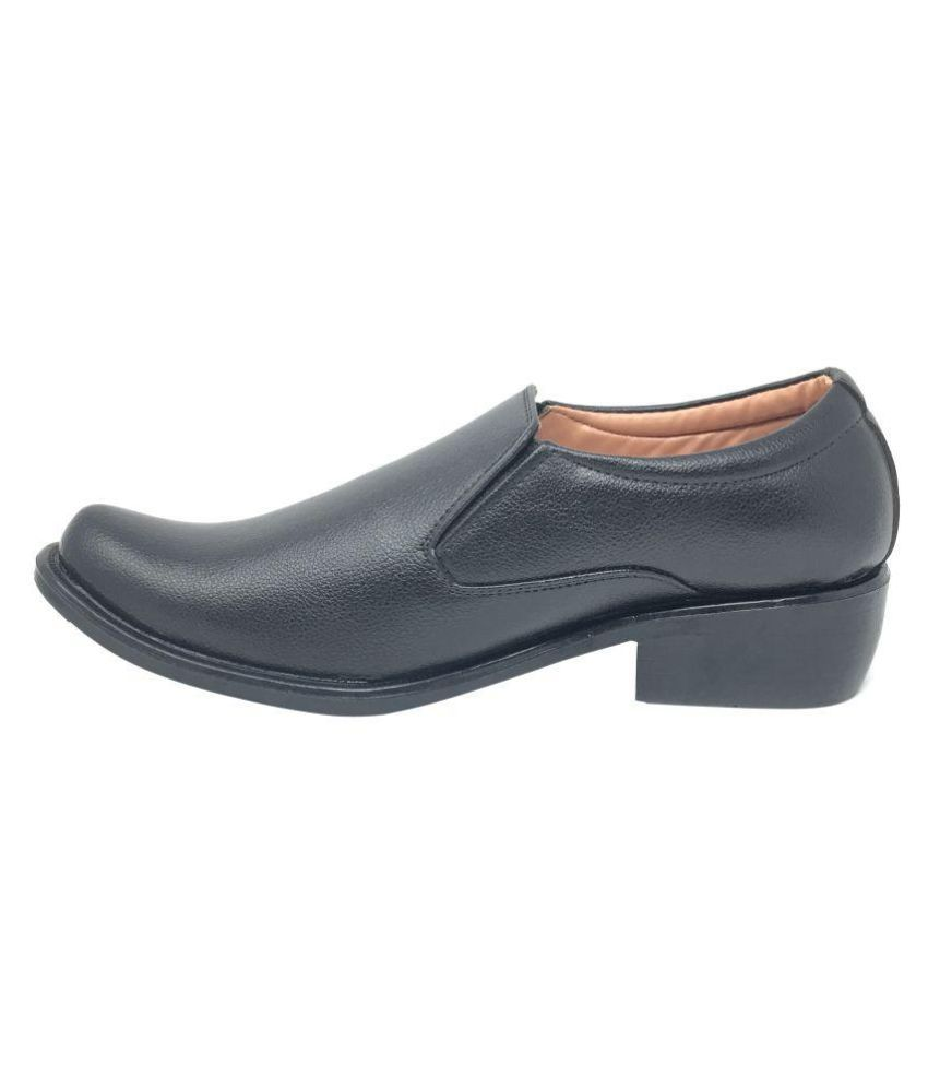 Daddy Shoes Slip On Artificial Leather Black Formal Shoes