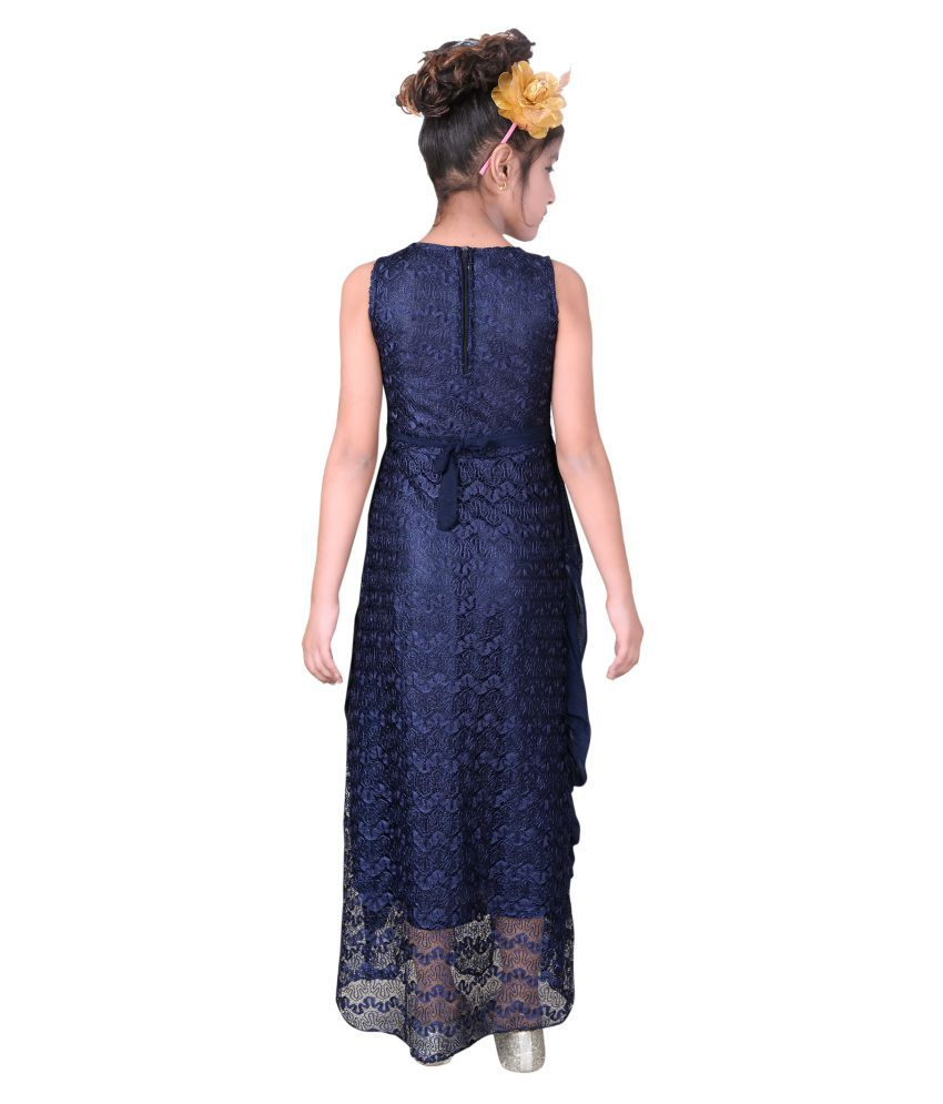 26eb70b98f7b8 Sky Heights Girls' Navy Gown/ Maxi (Party Wear Dress for Kids) - Buy Sky  Heights Girls' Navy Gown/ Maxi (Party Wear Dress for Kids) Online at Low  Price - ...