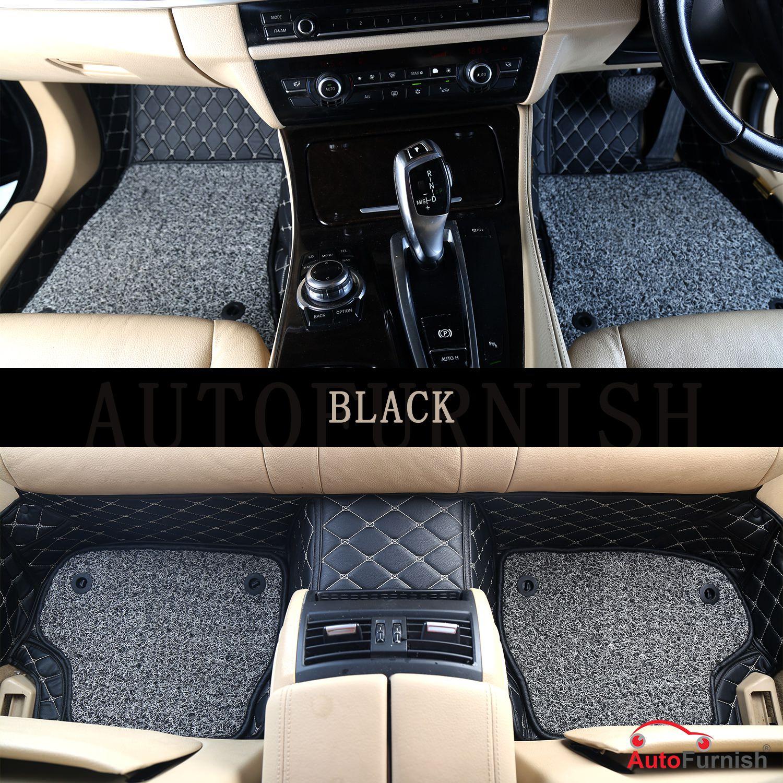 Autofurnish 7D Luxury Car Mats For Volkswagen Vento - Black - Set of 3 Mats