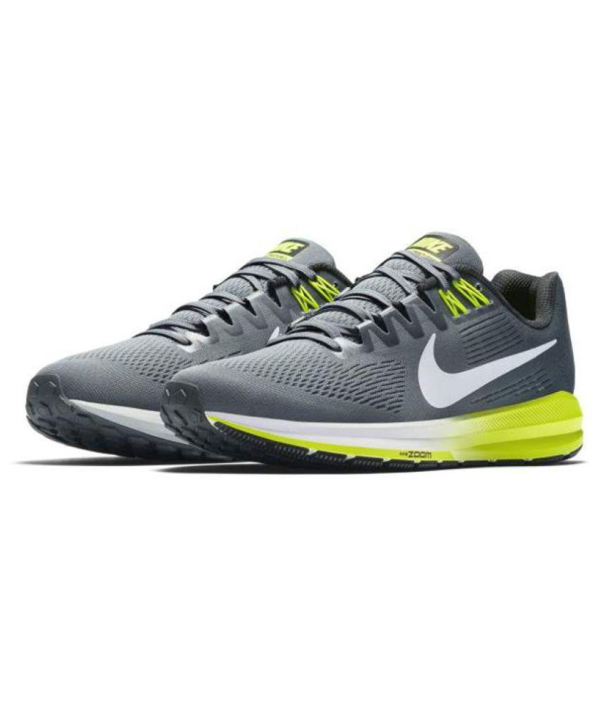best sneakers 48f59 37fee Nike ZOOM STRUCTURE 21 Grey Running Shoes