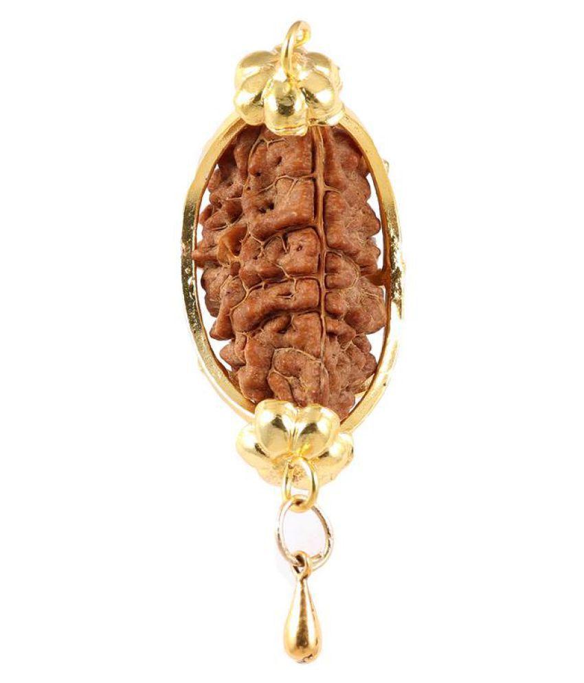 Rudra Blessings Original 1 Mukhi Rudraksha with Lucky Charm Gada pendant