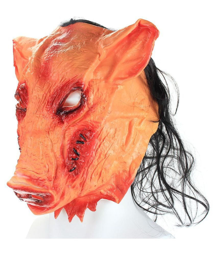 Scary Animal Halloween Masks.Halloween Fancy Mask Creepy Animal Pig Head Mask Prop Latex Party Unisex Scary Buy Halloween Fancy Mask Creepy Animal Pig Head Mask Prop Latex Party Unisex Scary Online At Low Price
