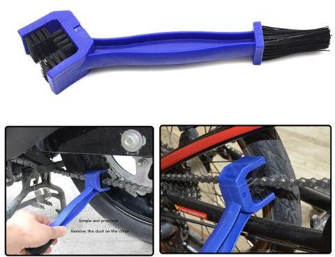 Spedy Motorcycle Bike Chain Cleaner Brush - Blue