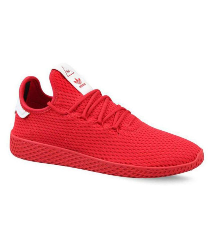 adidas pharrell red shoes