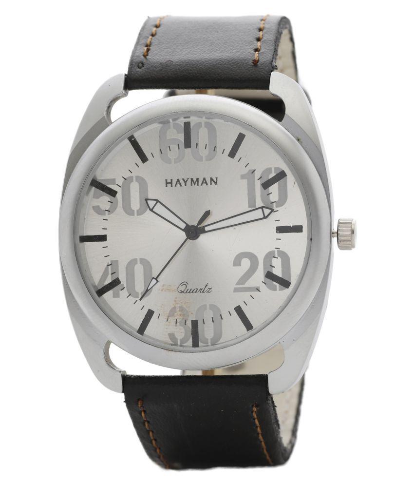 Hayman Leather Analog Men #039;s Watch