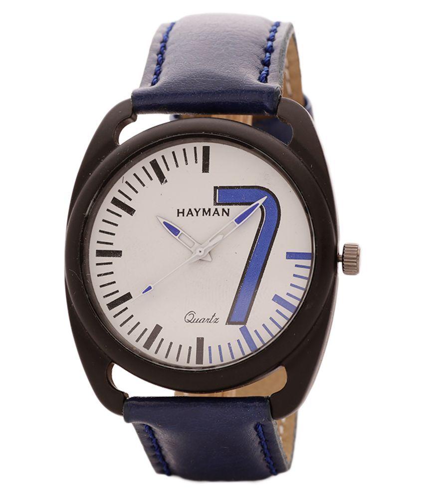 Hayman dail men's Leather Analog Men's Watch
