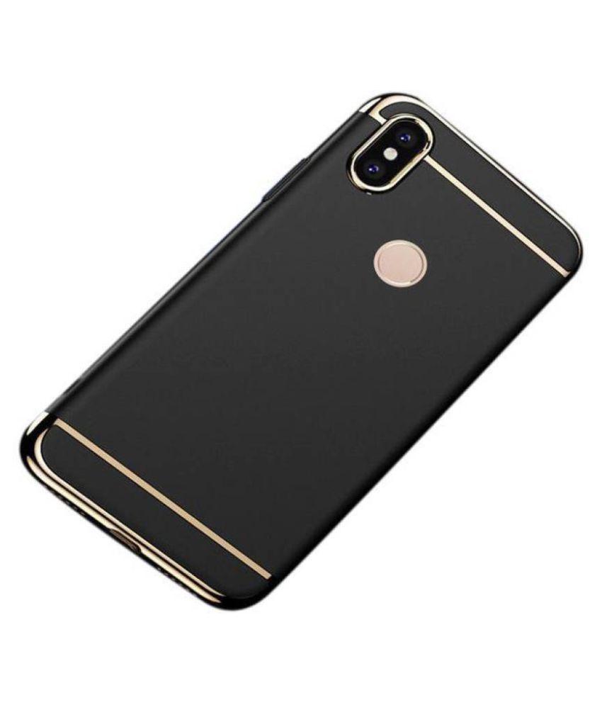Samsung Galaxy A8 Star Plain Cases Doyen Creations - Black 3 In 1 thin chromium glossy finish back cover