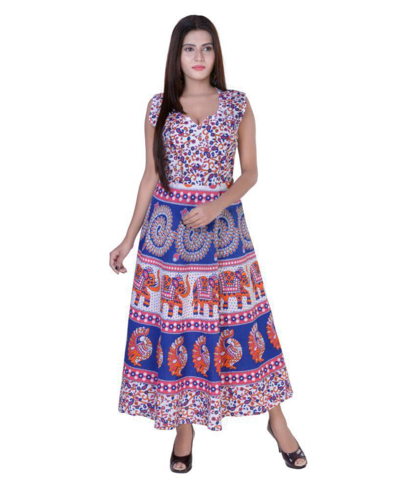 fabcolors Cotton Multi Color Regular Dress