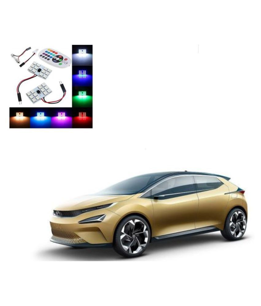 Auto Addict Car 12 LED RGB Roof Light with IR Remote Car Fancy Lights For Tata 45X
