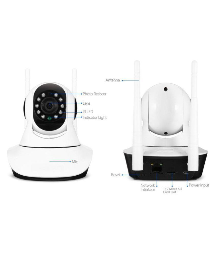 b5c11e4e0 ... Duisah HD IP CCTV Security Wi-Fi Dome 360° 720P Dual Antenna Night  Vision ...