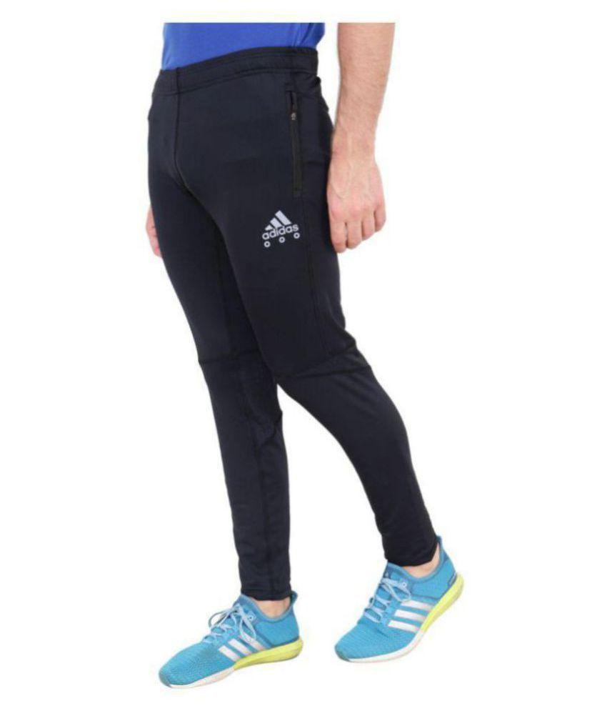 Adidas dry fit track pants adizero black