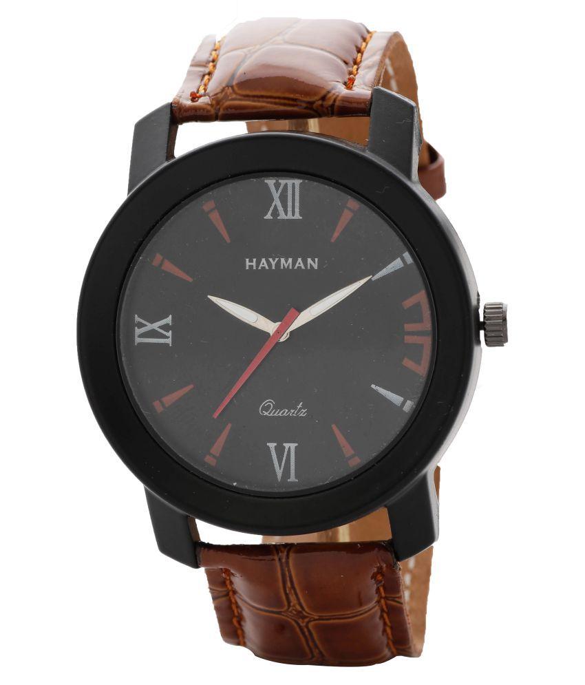 Hayman Analog Black Dial Boys Watch (W-51)