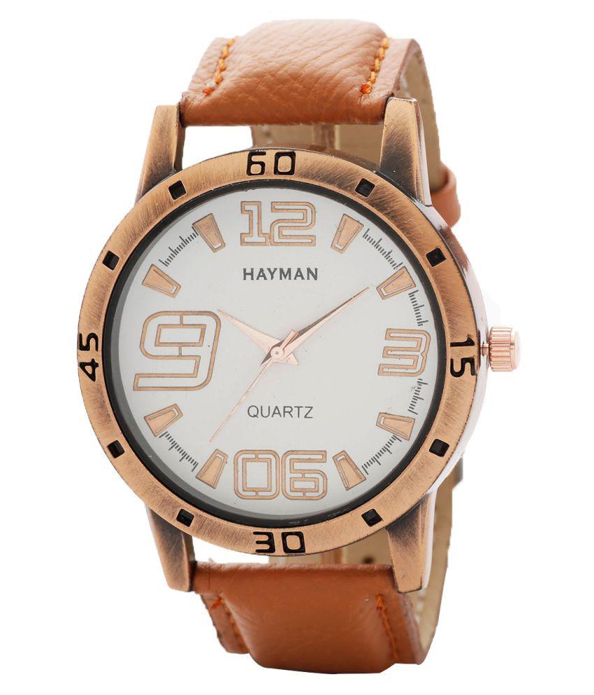 Hayman Analog Off-White Dial  Boys Watch (W-61)