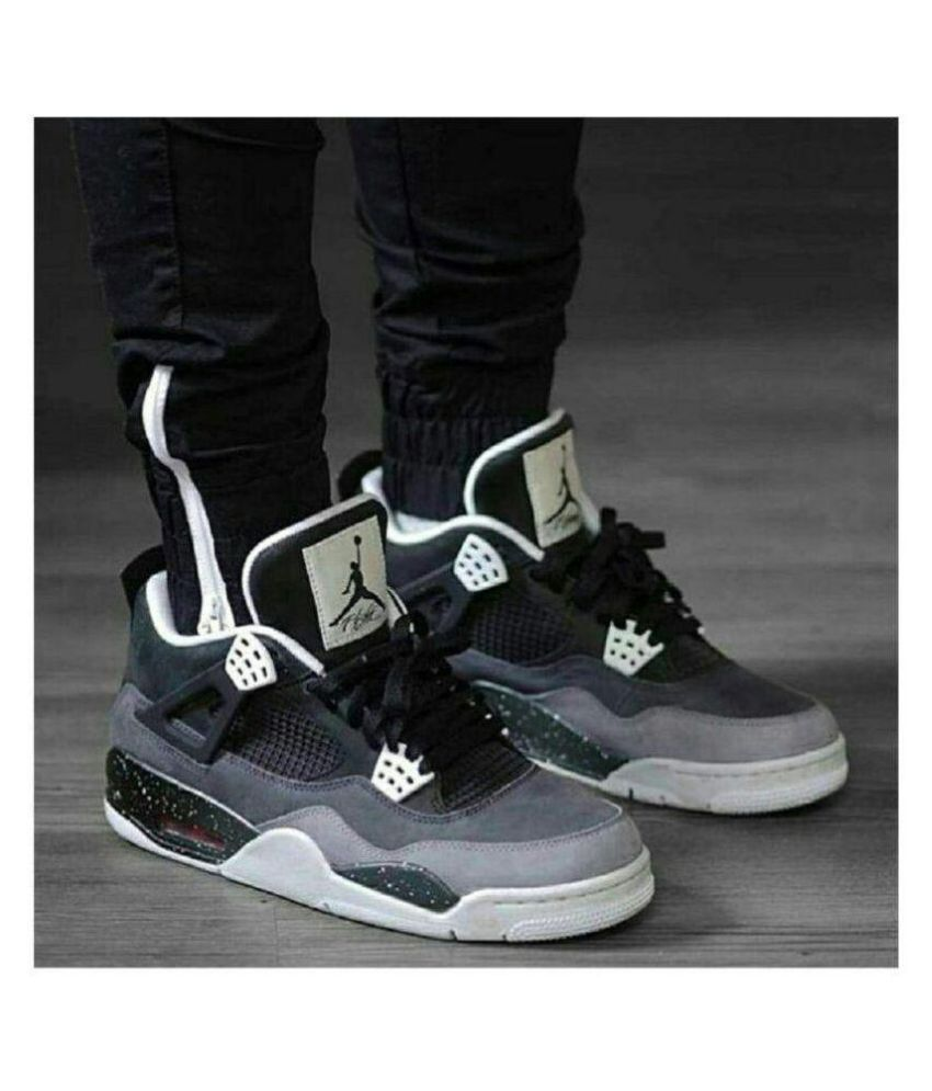 Nike Air Jordan Retro 4 Black Running
