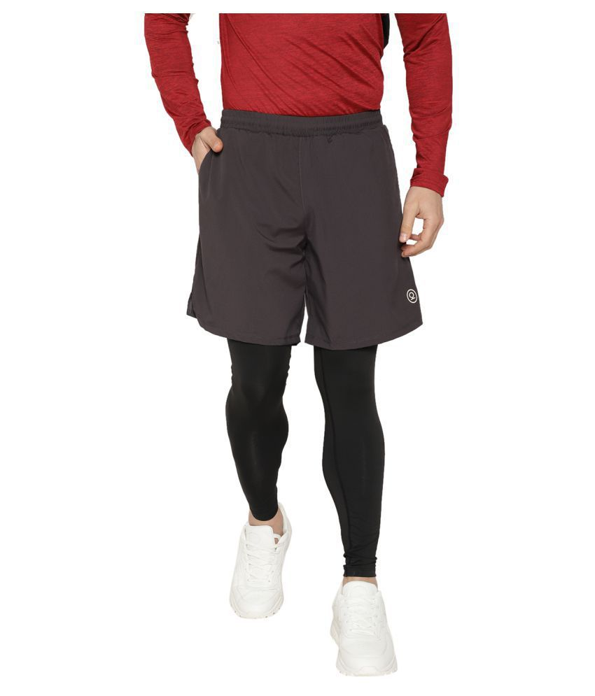 9a1b5577 CHKOKKO Dry Fit Compression Tights with Running Shorts and Pockets for Men:  Buy Online at Best Price on Snapdeal