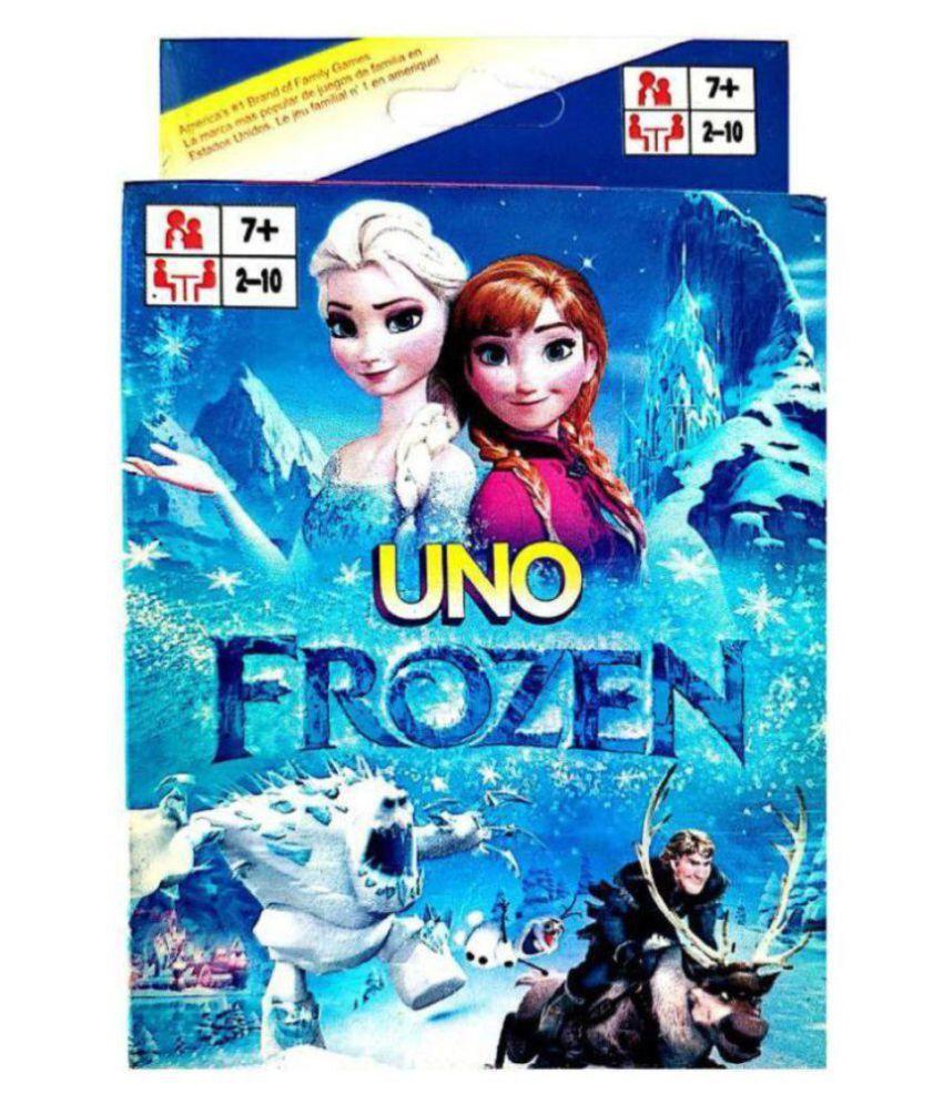 Jaynil Enterprise Golden Feather Frozen Uno Cards  Uno Original   Multicolor