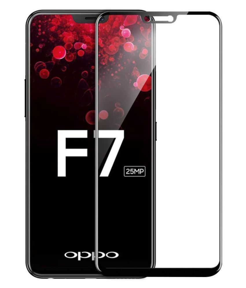 Oppo F7 Tempered Glass Screen Guard By XORB Full edge to edge screen protection