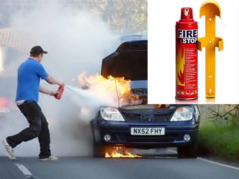 Super-Man Fire Stop Home Safe Fire Extinguisher and Mount for Car/Home/Office (400ml)
