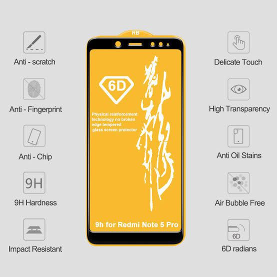 00196bf51 Xiaomi Redmi Note 5 Pro Full Glue Tempered Glass Screen Guard By SK WORLD 6D  GLASS FOR PROTECTING SCREEN - Mobile Screen Guards Online at Low Prices ...