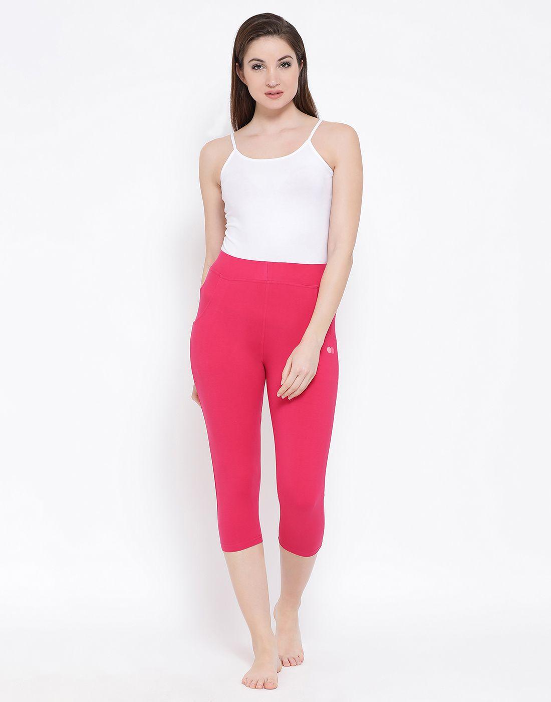 Clovia Cotton Blend Tights - Pink