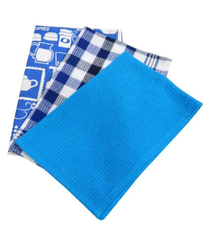 URBAN-TRENDZ Set of 3 40x60 Cotton Kitchen Towel