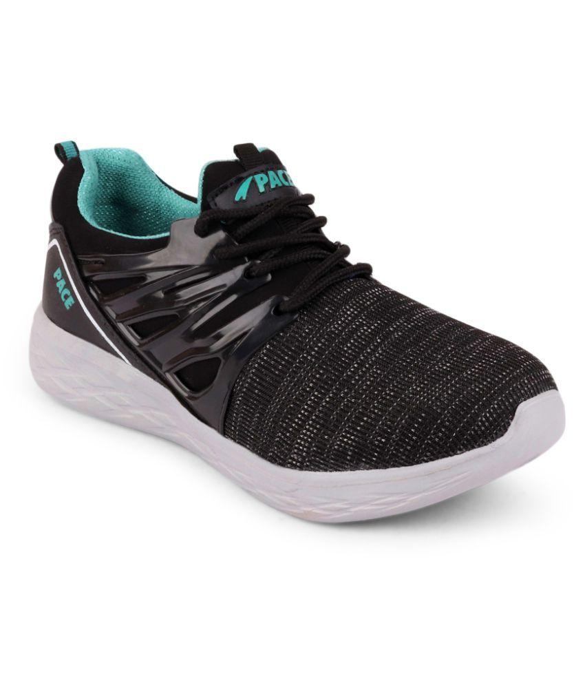 Lakhani Vardaan Black Running Shoes