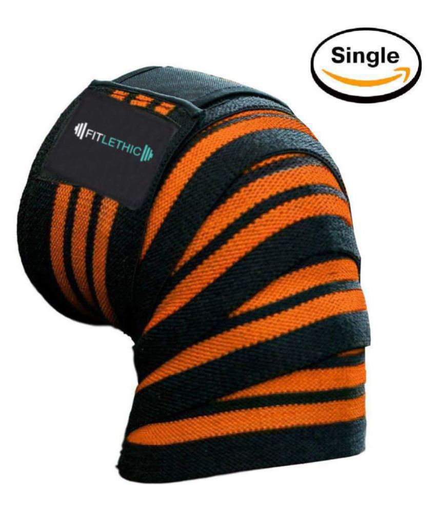 Fitlethic Weight Lifting Knee Wraps Straps Unisex - 84 inches Long Adjustable Knee Support Compression Sleeves, Improve Gym Workout Strength & Stability for Cross Training, Squats, Powerlifting