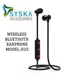 SA Syska H-15 Neckband Wireless Headphones With Mic