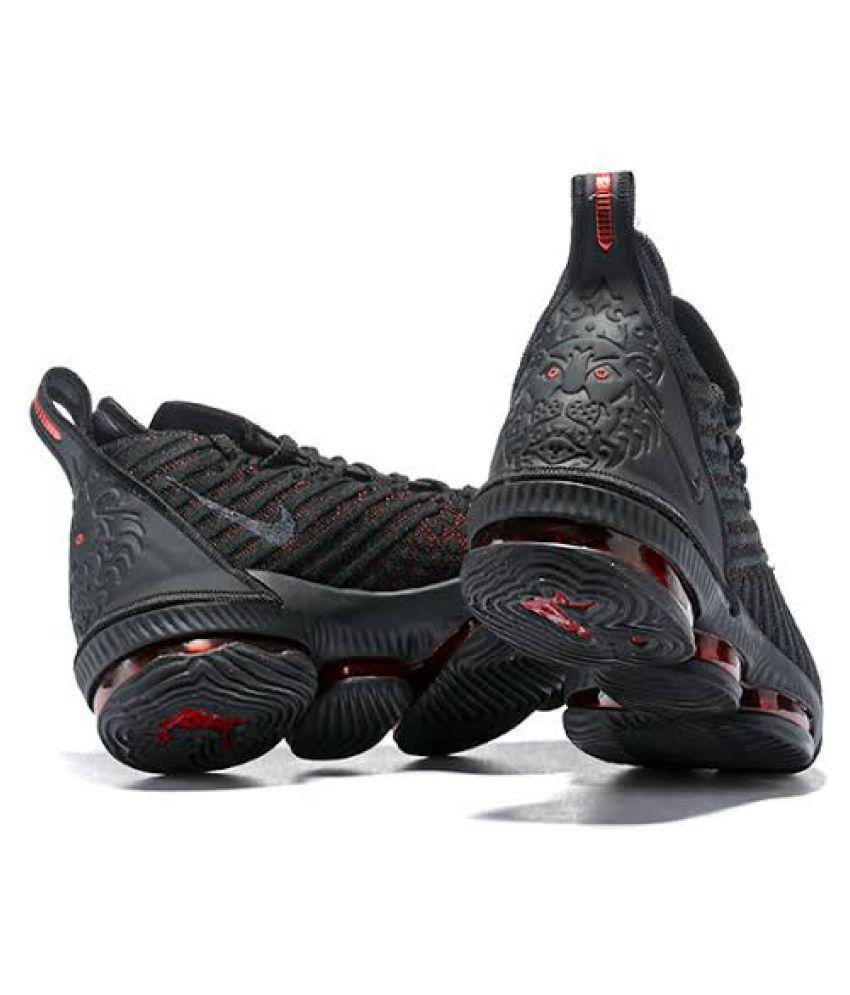 "separation shoes f2f24 928cd Nike LEBRON 16 ""BLACKRED†Multi Color Basketball Shoes"