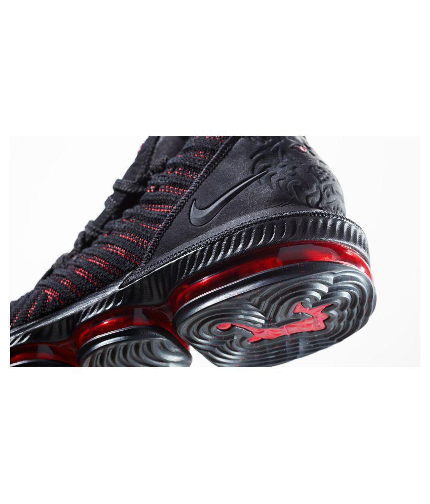 "separation shoes 9bb82 581b6 Nike LEBRON 16 ""BLACKRED†Multi Color Basketball Shoes"