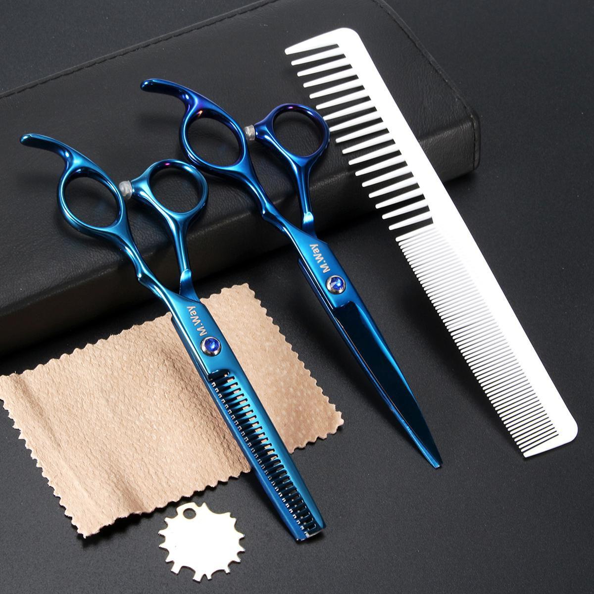 6\u0027\u0027 Pro Pet Dog Cat Grooming Hair Cutting Thinning Scissor Shear Comb Set  Bag