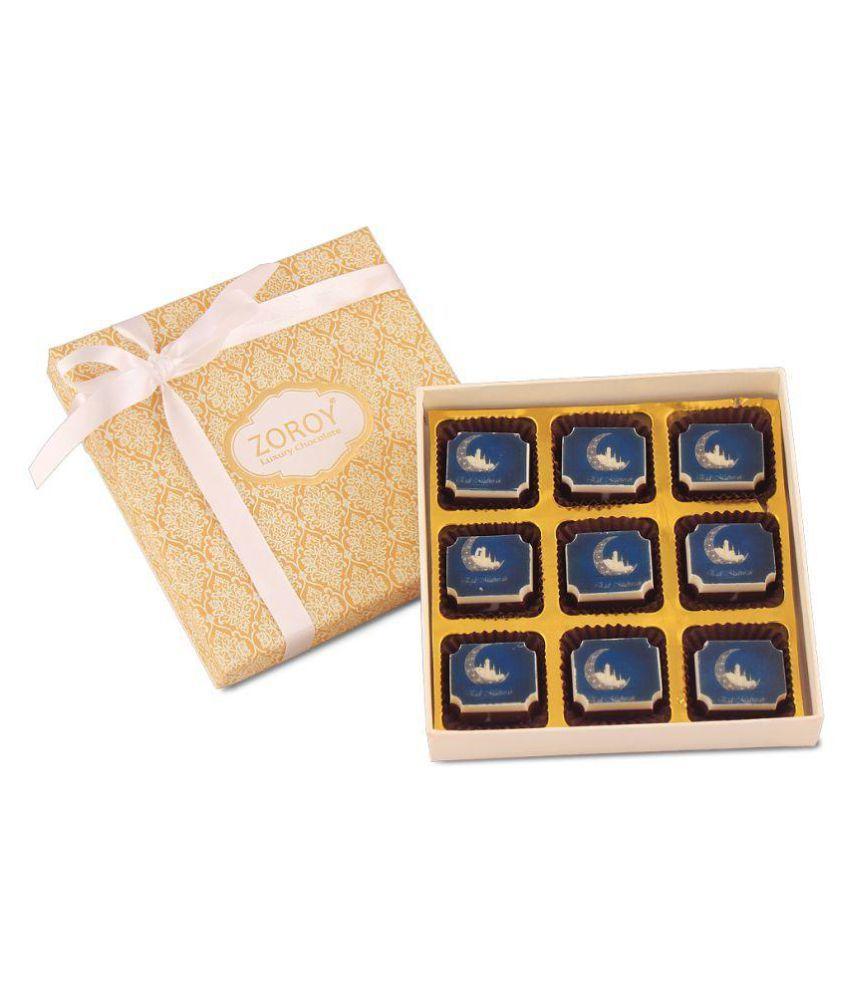 Zoroy Luxury Chocolate Assorted Box Ramadan gift box of 9 printed chocolates 500 gm