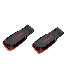 san disk CRUZER BLADE 32GB USB 2.0 Utility Pendrive Pack of 2