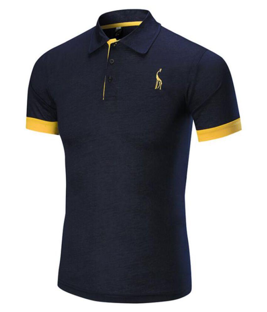 Aloveu Navy Half Sleeve T-Shirt