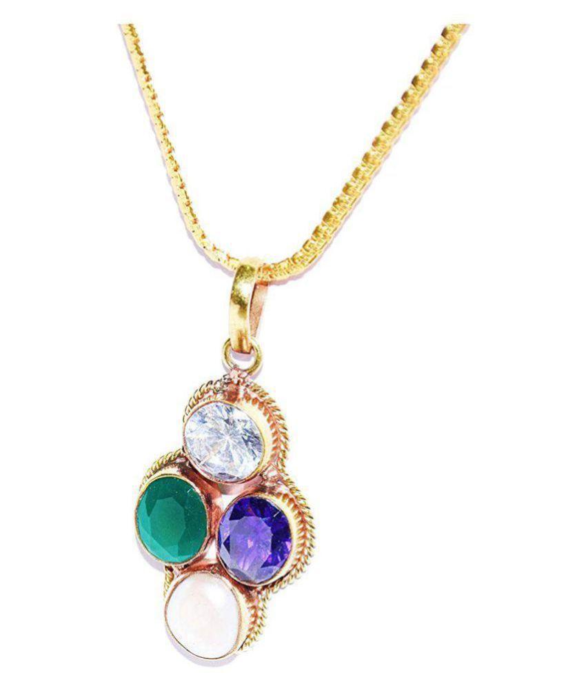 Virgo Zodiac Self Certified Multicolor 100% Original semi precious Gemstone Prosperity Pendant For Unisex Kanya rashi