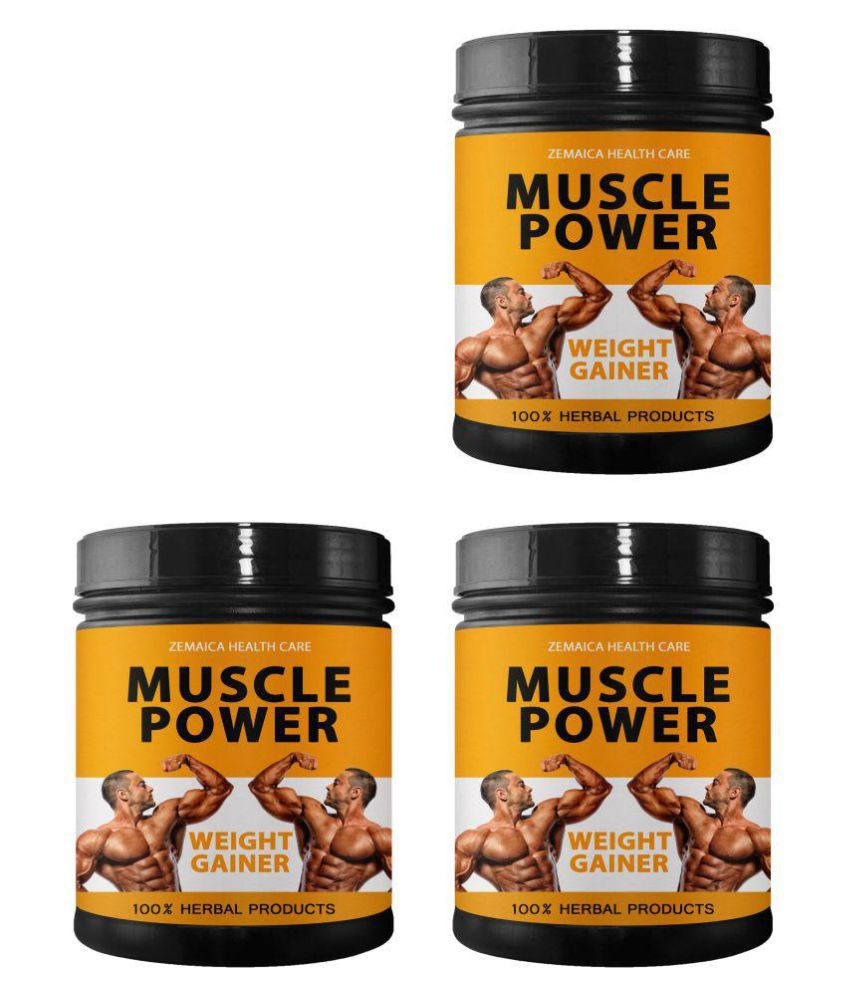 Zemaica Healthcare Muscle Power Weight Gainer Supplement Powder 1500 gm Pack of 3
