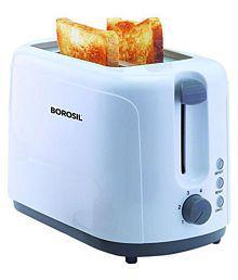 Borosil KRISPY 750 Watts Pop Up Toaster