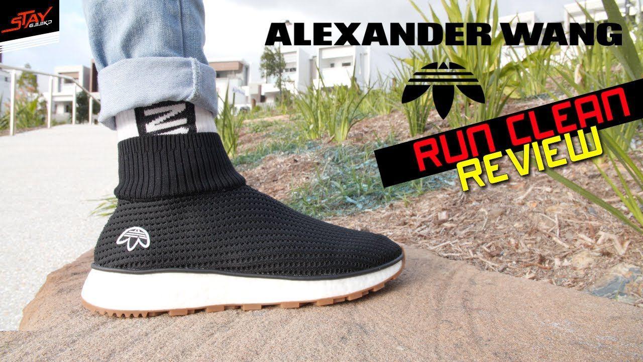 new style 366f0 406c4 ADIDAS AW RUN CLEAN X ALEXANDER WANG Black ...