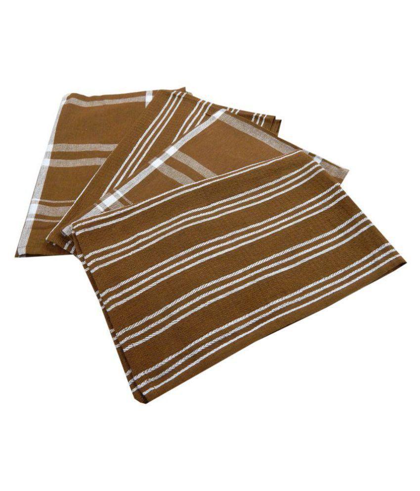 URBAN-TRENDZ Set of 4 Others Cotton Kitchen Towel