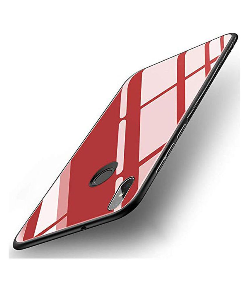Xiaomi Redmi Y2 Mirror Back Covers KOVADO - Red 360°  Luxurious Toughened Glass Back Case
