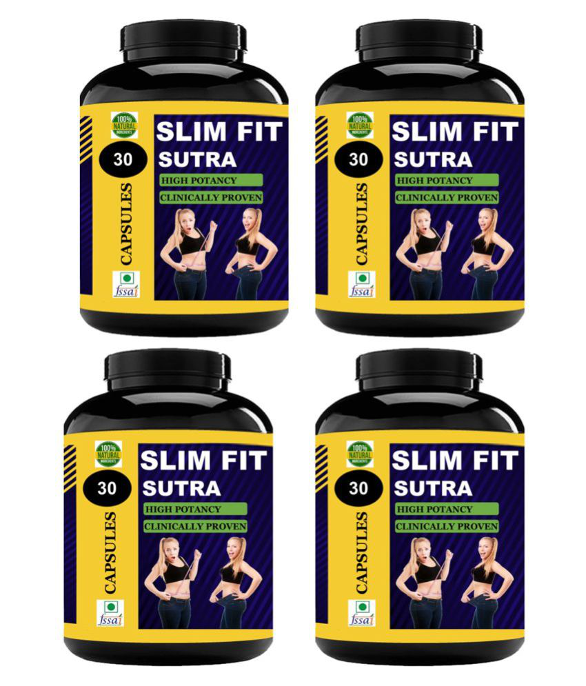 VITARA HEALTHCARE Slim Fit Sutra For Weight Loss Capsule 120 no.s Pack Of 4
