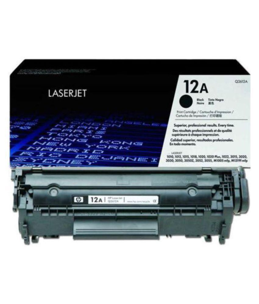 laserjet HP 12A Black Single Toner for HP 12A