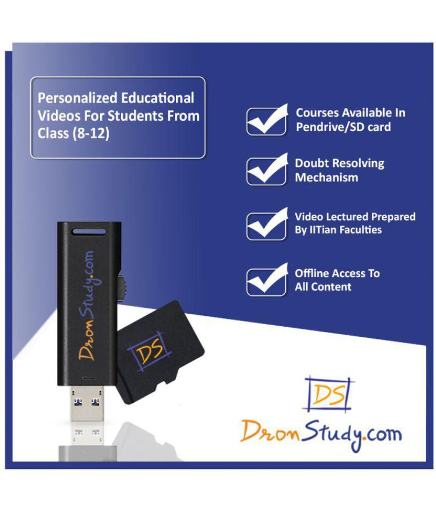 DronStudy Dronstudy Class 9 CBSE Science + Mathematics Sample Paper with Solution Pen Drive
