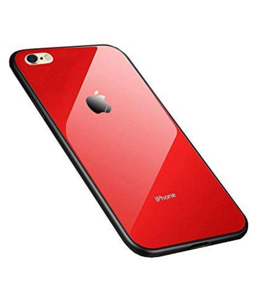 iPhone 6 Mirror Back Covers ClickAway - Red Original Luxurious Toughened Glass Back Case