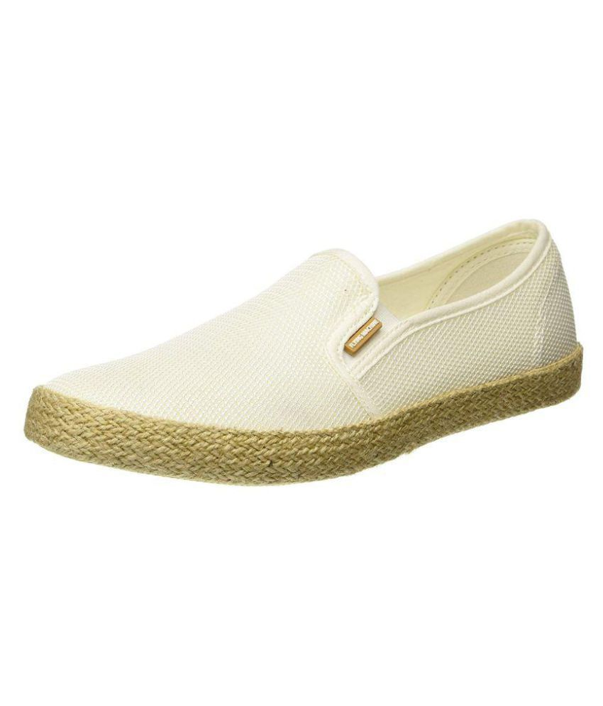 Flying Machine White Loafers