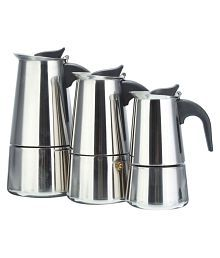 YKPuii 1 PC 100/200/300ml Stainless Steel Espresso Coffee Maker Coffee Pot Silver Color Filter Kitchen Tool