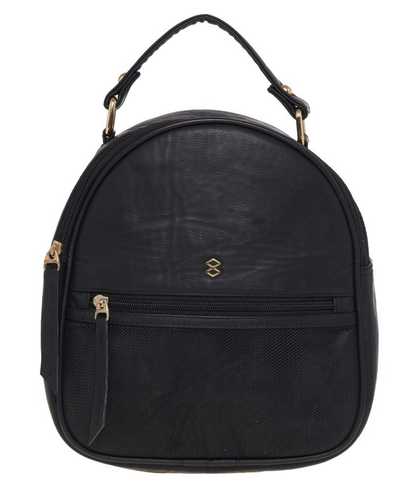 Horra Black P.U. Backpack